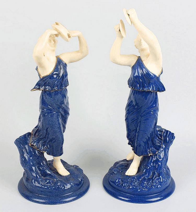 A pair of  Royal Worcester figures of female musicians