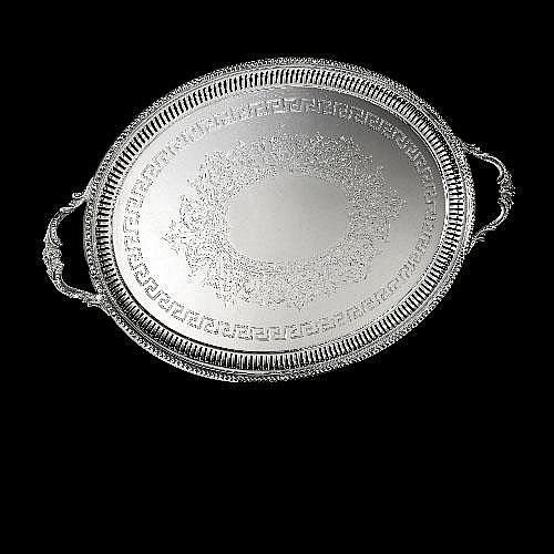 A large Victorian silver tray.