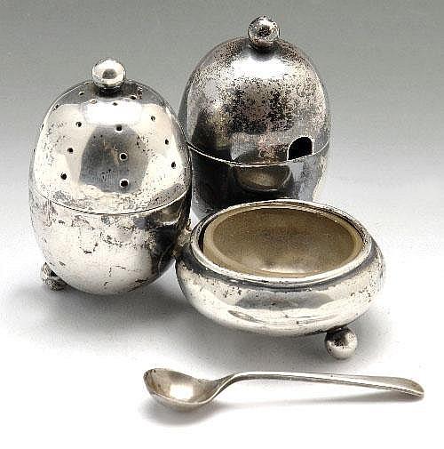 Victorian silver cruet.