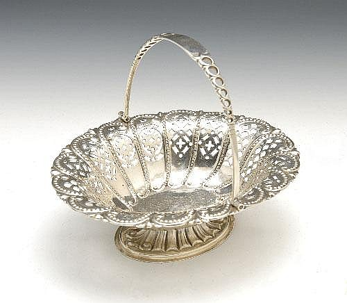 Late Victorian silver sweetmeat dish.