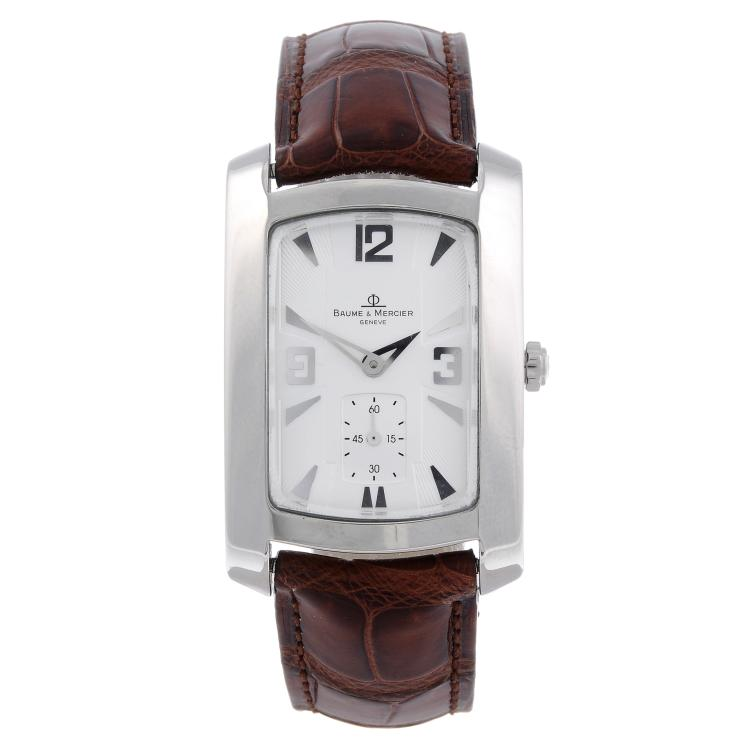 BAUME & MERCIER - a midsize stainless steel Hampton wrist watch