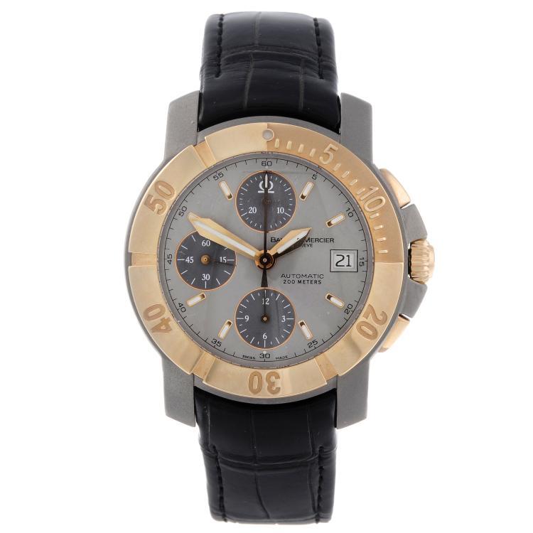 BAUME & MERCIER - a gentleman's titanium Capeland chronograph wrist watch