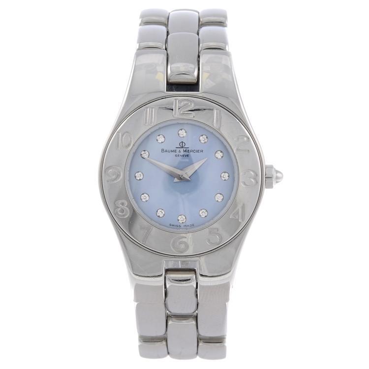 BAUME & MERCIER - a lady's stainless steel Linea bracelet watch