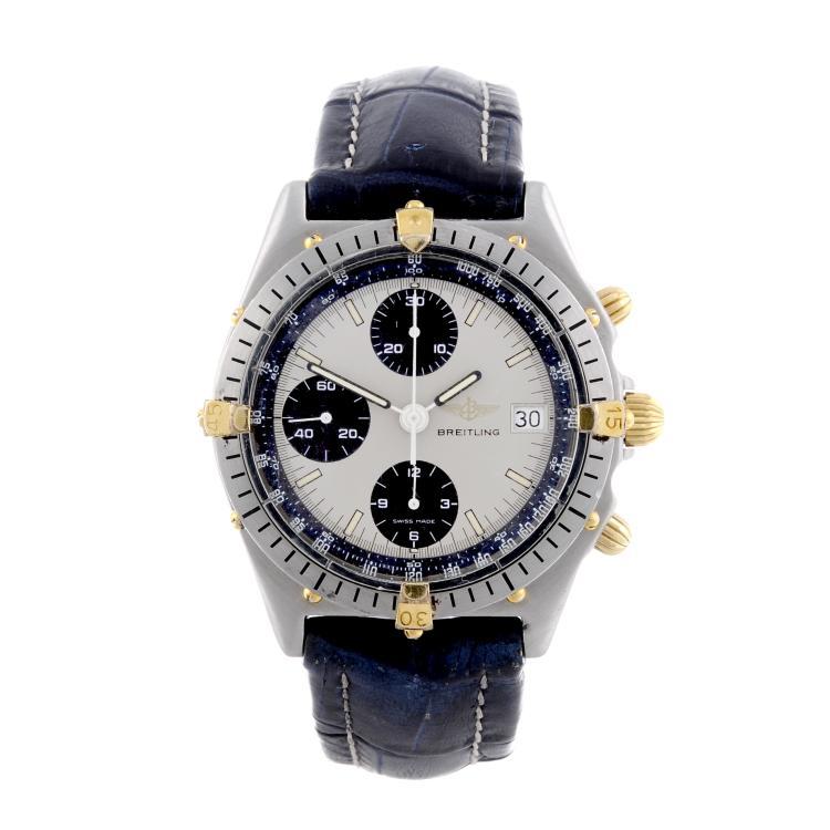 BREITLING - a gentleman's stainless steel Chronomat chronograph wrist watch