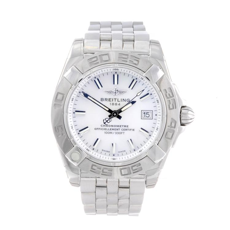 BREITLING - a lady's stainless steel Windrider Cockpit bracelet watch
