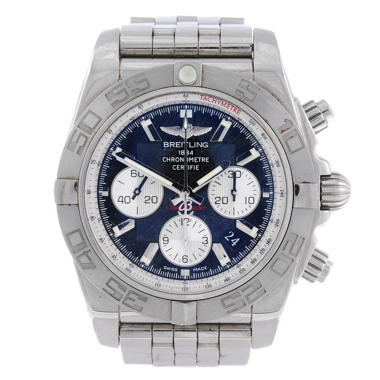 BREITLING - a gentleman's stainless steel Chronomat 01 chronograph bracelet watch