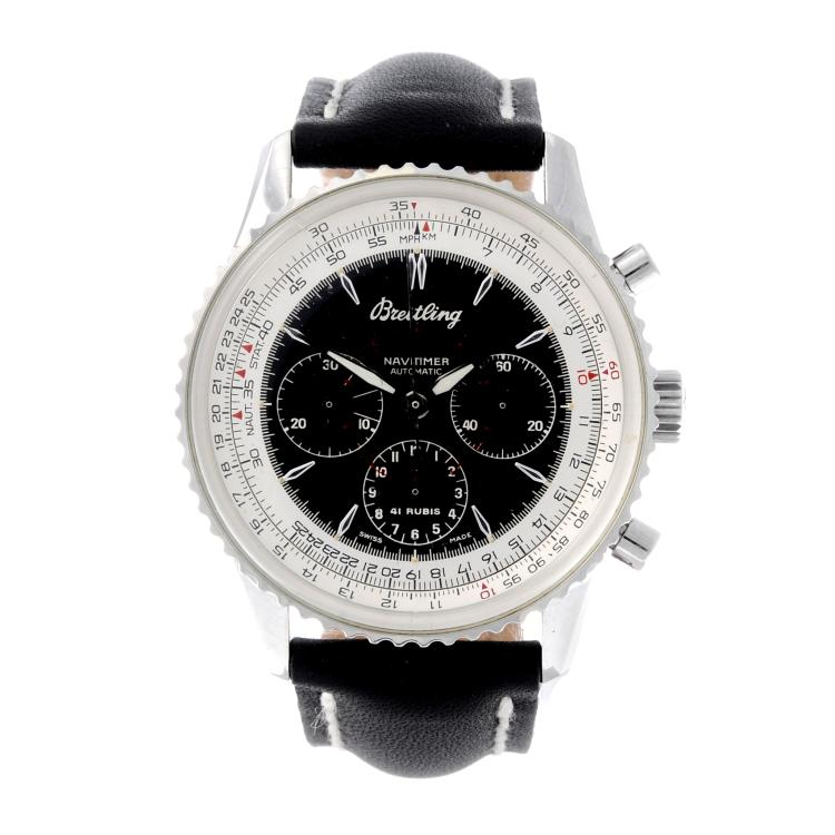 BREITLING - a gentleman's stainless steel Navitimer Montbrillant chronograph wrist watch