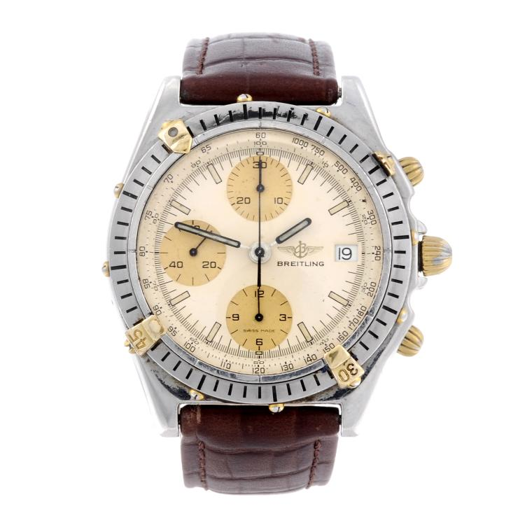 BREITLING - a gentleman's Chronomat Blackbird chronograph wrist watch
