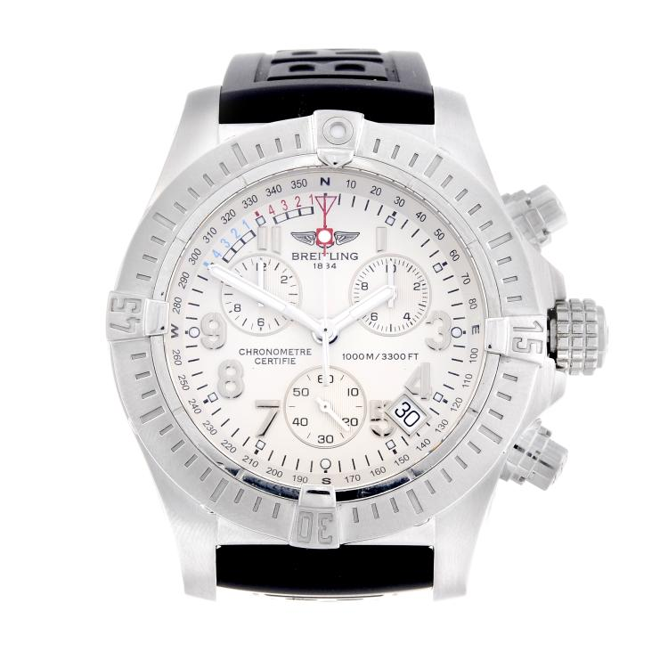 BREITLING - a gentleman's stainless steel Aeromarine Avenger Sea Wolf chronograph wrist watch
