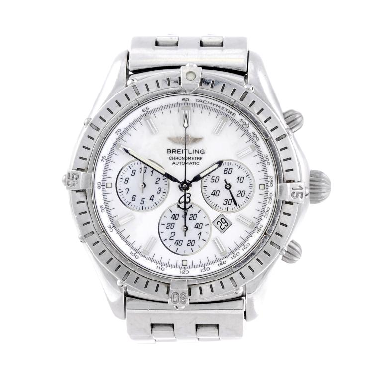 BREITLING - a gentleman's stainless steel Windrider Shadow Flyback chronograph bracelet watch