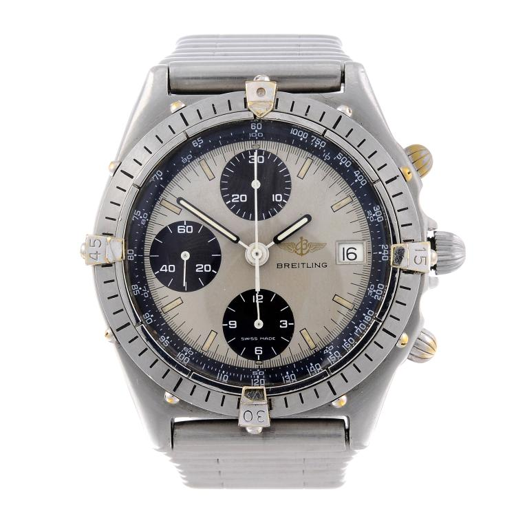 BREITLING - a gentleman's stainless steel Chronomat chronograph bracelet watch