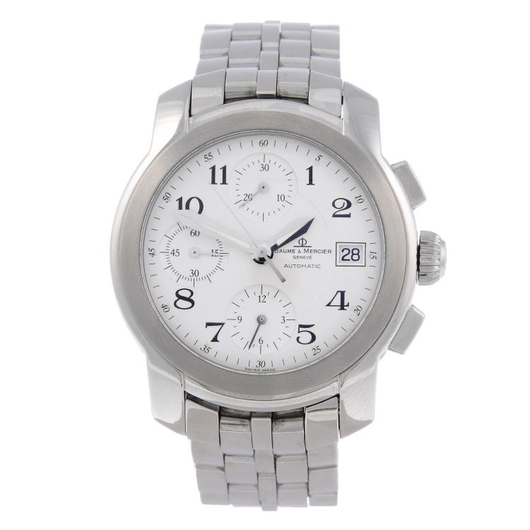 BAUME & MERCIER - a gentleman's stainless steel Capeland chronograph bracelet watch