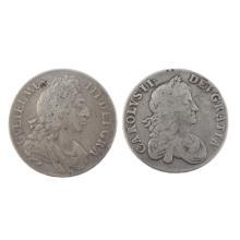 Crowns (2) 1667, 1696.