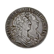 William and Mary, Halfcrown 1689.