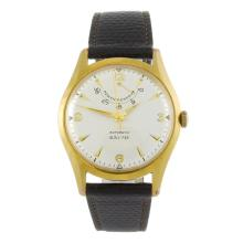BAUME - a gentleman's gold plated wrist watch.