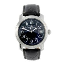 BAUME & MERCIER - a gentleman's stainless steel Capeland wrist watch.
