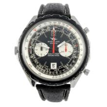 BREITLING - a gentleman's stainless steel Navitimer Chronomatic wrist watch.