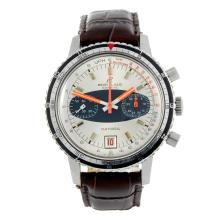 BREITLING - a gentleman's stainless steel Datora chronograph wrist watch.