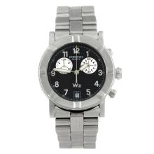 RAYMOND WEIL - a gentleman's stainless steel W1 chronograph bracelet watch.