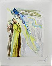 Dali Divine Comedy Heaven Canto 11 Hand Sig Dali Archives Certified