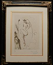 Dali Divine Comedy Heaven Canto 28 Hand Sig Dali Archives Certified