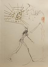 Dali Tristan et Iseult Three Bad Barons Hand Sig Dali Archives Certified
