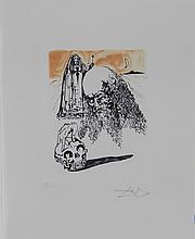Dali La Vida es Sueno Viellart Tete de Mort Hand Sig Dali Archives Certified