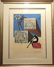 Dali Memories Surrealism Dressed in The Nude Hand Sig Dali Archives Certified