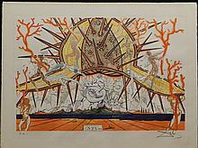 Dali Sea Urchin Hand Signed Dali Archives Certified