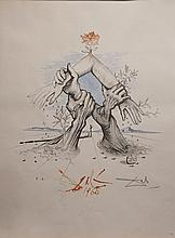 Dali Five Continents Hand Signed Dali Archives Certified