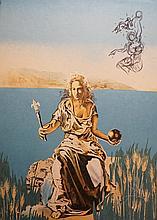 Dali Visions Surrealiste Coronation of Gala H Sig Dali Archives Certifies