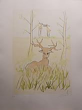 Dali Le Bestiaire Fontaine Deer Hand Sig