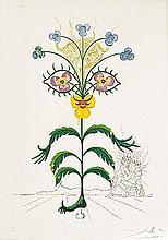 Dali Viola Cogitans (Pansy) Hand Signed # Dali Archives Authentic