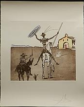 Dali Historia Don Quichotte The Impossible Dream Hand Signed Dali  Certified