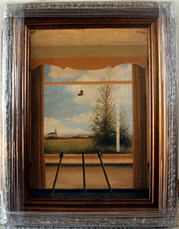 Original Oil Painting By Rene Magritte