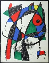 Original Lithograph By Joan Miro (2ZM)