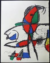 Original Lithograph By Joan Miro (5ZM)