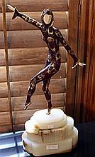Chorus Dancer -Bronze and Ivory by Chiparus