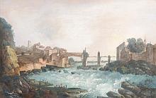 LOUIS BELANGER LE ROMAIN, Der Rheinfall bei Schaffhausen