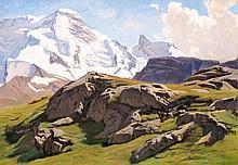 ALBERT LUGARDON, Vue du Petit Cervin et du Mont Riffel