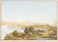 JOHANN LUDWIG ABERLI, Vue de Lucerne et du Lac du même nom, du Mont Pilate (...)
