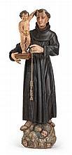 ITALIENISCHE SCHULE 18./19. JH., Hl. Antonius mit dem Christusknaben