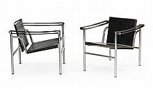 LE CORBUSIER, Paar LC1 Basculant Stühle, Modell von 1928