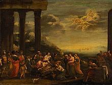 *SCHULE VON BOLOGNA UM 1630  Tod der Dido  Öl auf Lwd., 74,5 x 99 cm, alte Restaurierung