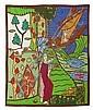 OSKAR KOKOSCHKA - Wandteppich, nach Sujet aus der Serie