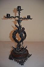 Chinese Bronze Candelabra