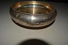 Silver footed dish, Marked Silver on bottom, 11.83 T oz