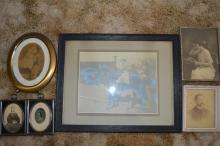 Grouping of early framed photos