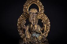 A bronze figure of Ganapati  Nepal, early 19th Century