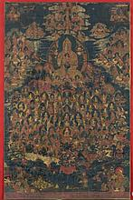 "Thangka depicting the ""Refuge Field"" Tibet, 18th Century"